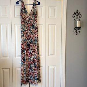 Cynthia Rowley floral maxi dress - M